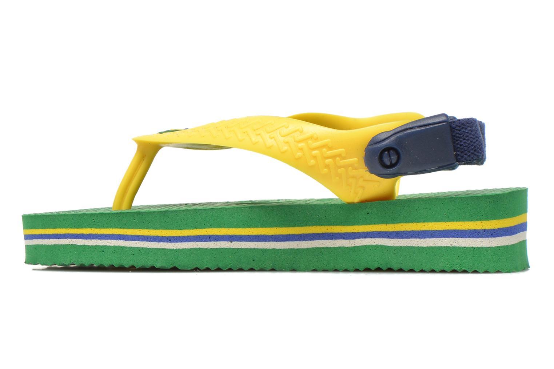 Flip flops Havaianas Baby Brazil Logo Green front view