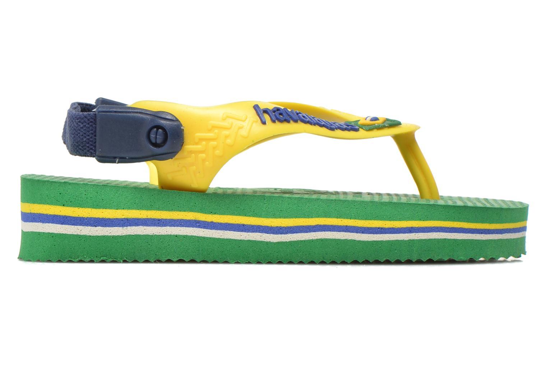 Flip flops Havaianas Baby Brazil Logo Green back view