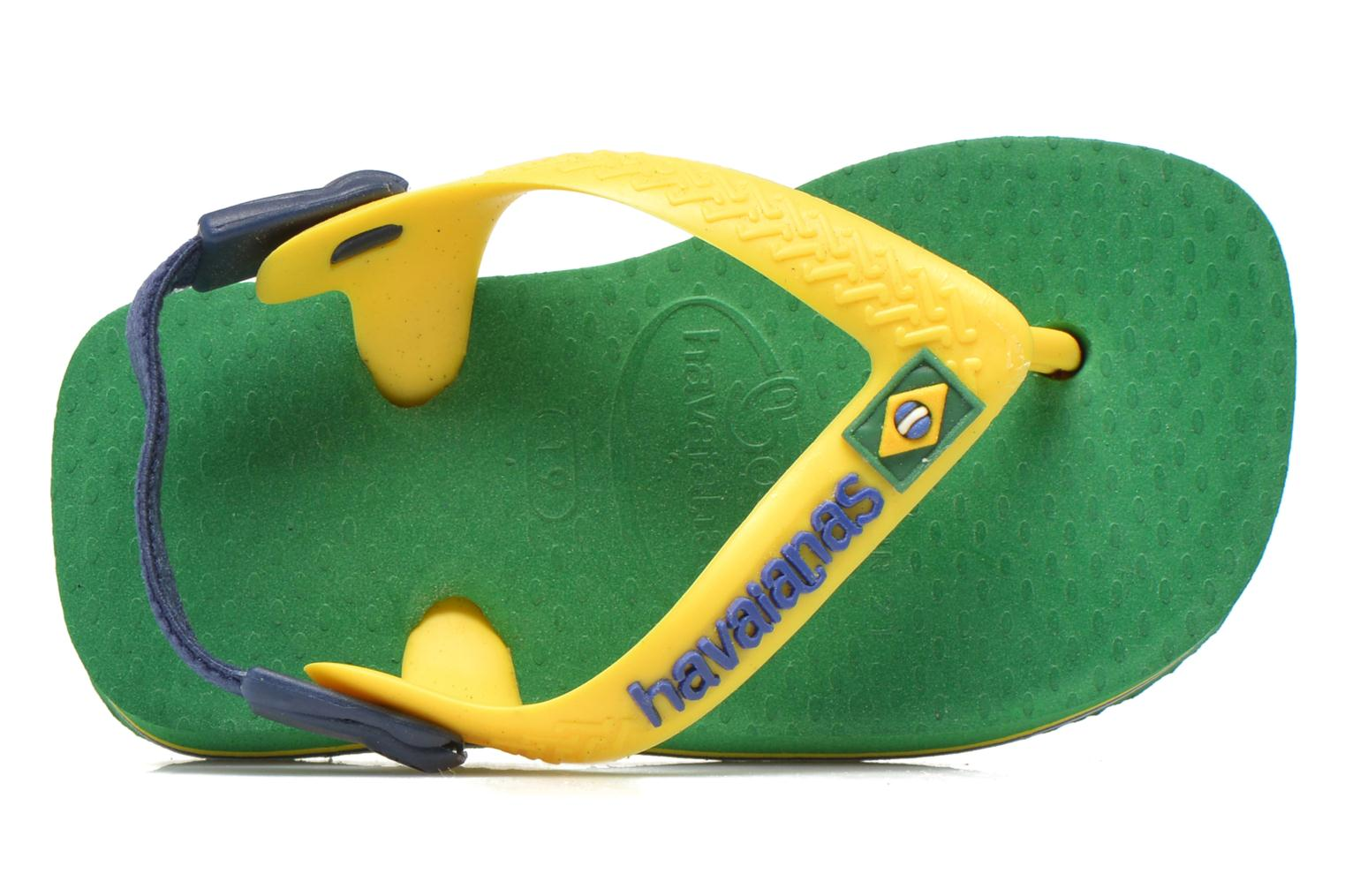 Flip flops Havaianas Baby Brazil Logo Green view from the left