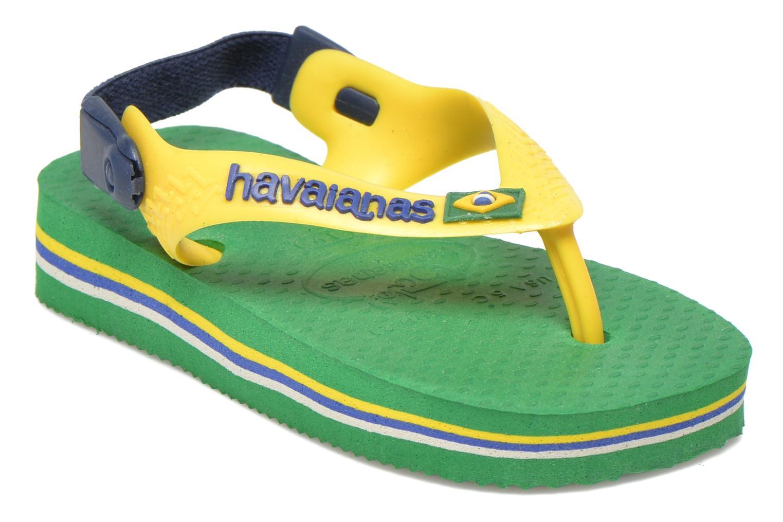 Tongs Havaianas Baby Brazil Logo Vert vue détail/paire