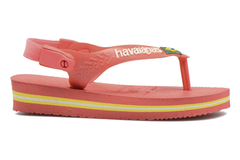 Zehensandalen Havaianas Baby Brazil Logo rosa ansicht von hinten