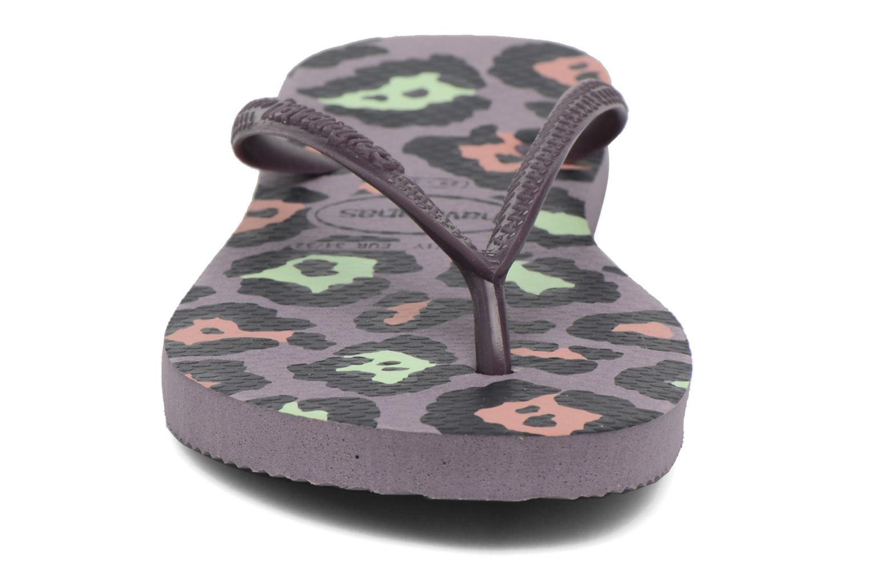 Flip flops Havaianas Kids Slim Animals Purple model view