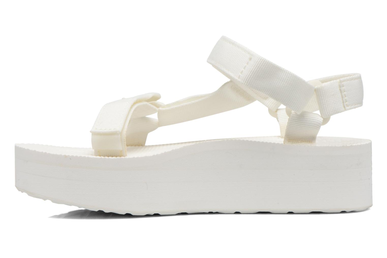 Sandales et nu-pieds Teva Flatform Universal Blanc vue face
