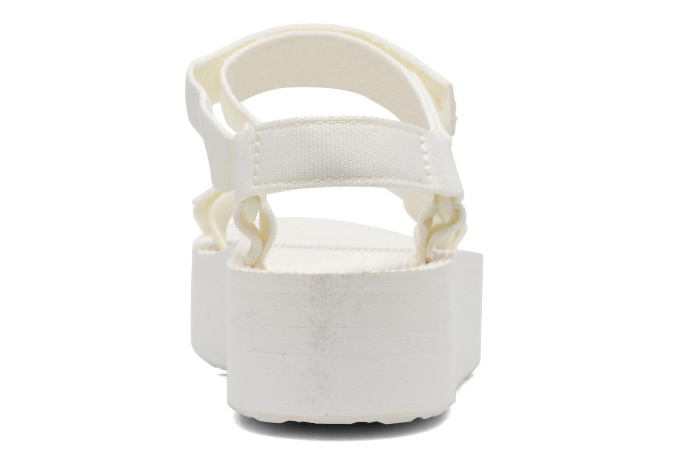 Sandales et nu-pieds Teva Flatform Universal Blanc vue droite