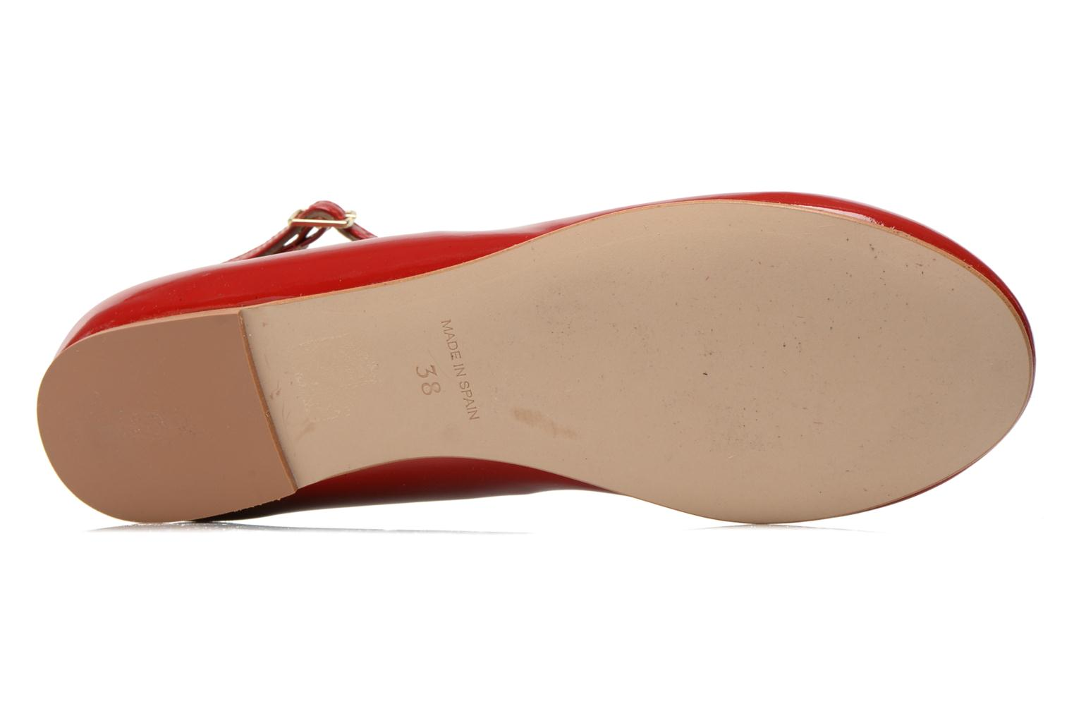Ballet pumps Georgia Rose Lamirna Red view from above