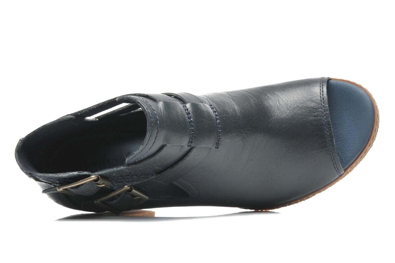 Bottines et boots Timberland Earthkeepers Glancy Peep Toe Bleu vue gauche