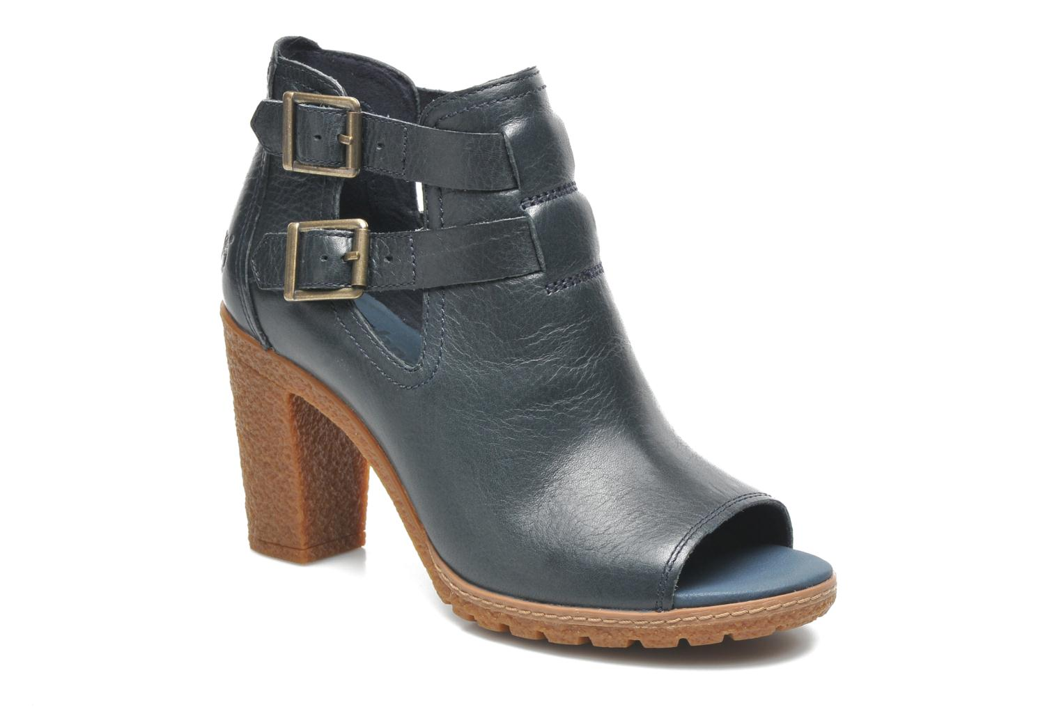 Ankle boots Timberland Earthkeepers Glancy Peep Toe Blue detailed view/  Pair view