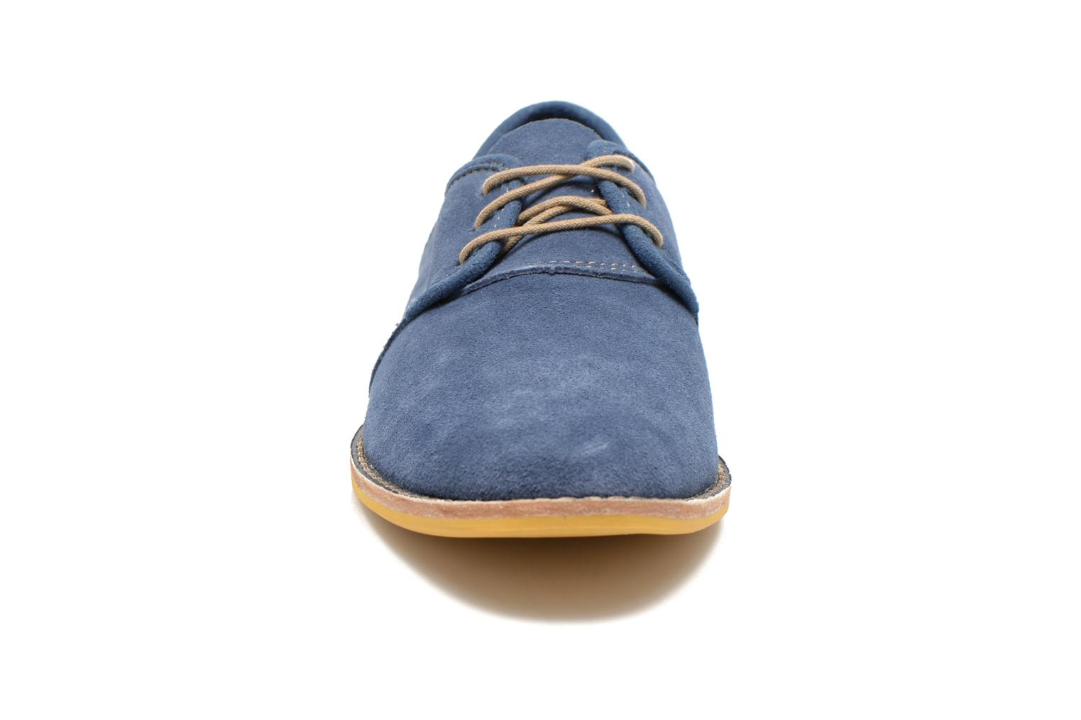 Chaussures à lacets Timberland Earthkeepers Revenia Suede Oxford Bleu vue portées chaussures