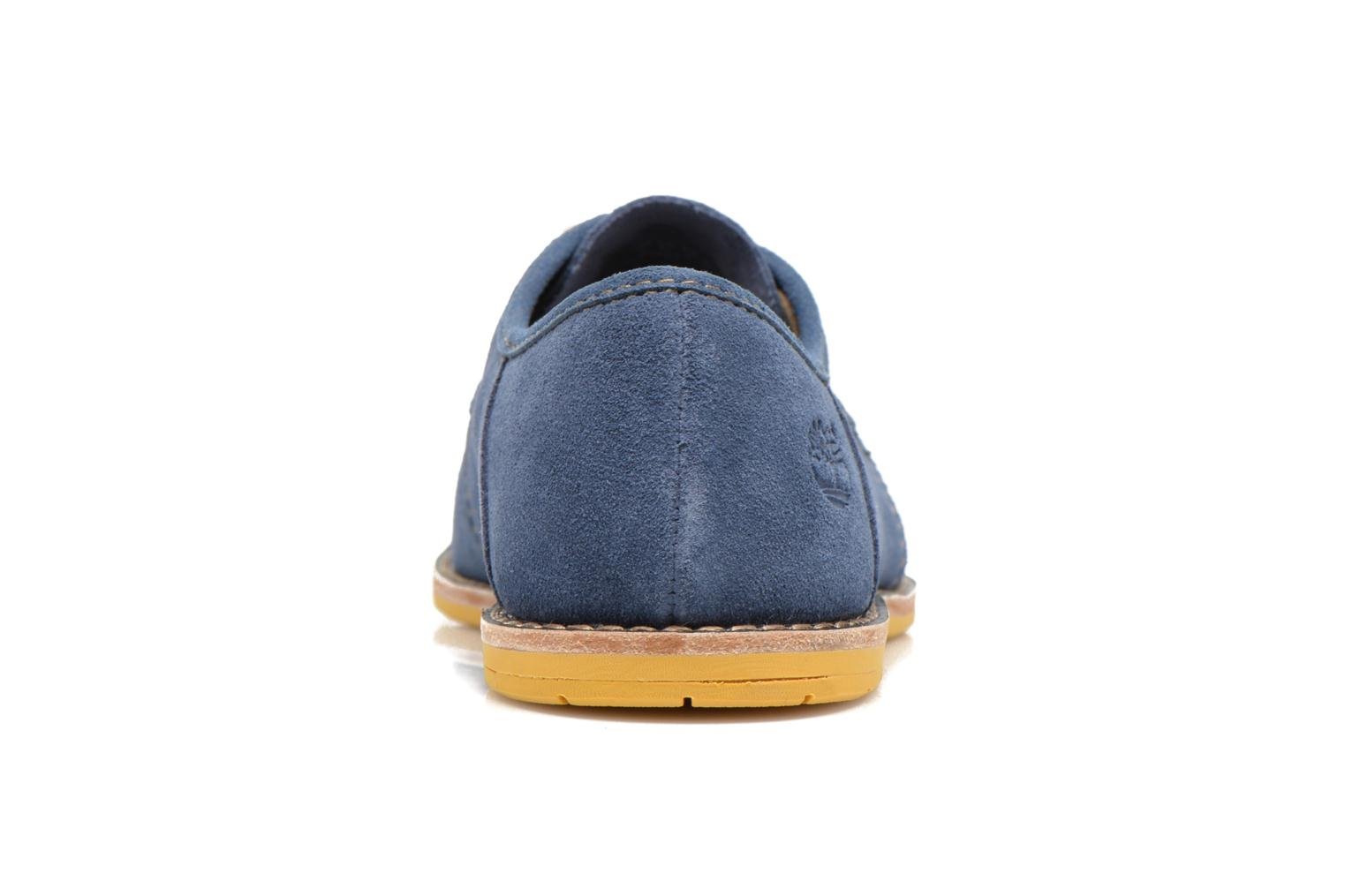 Chaussures à lacets Timberland Earthkeepers Revenia Suede Oxford Bleu vue droite