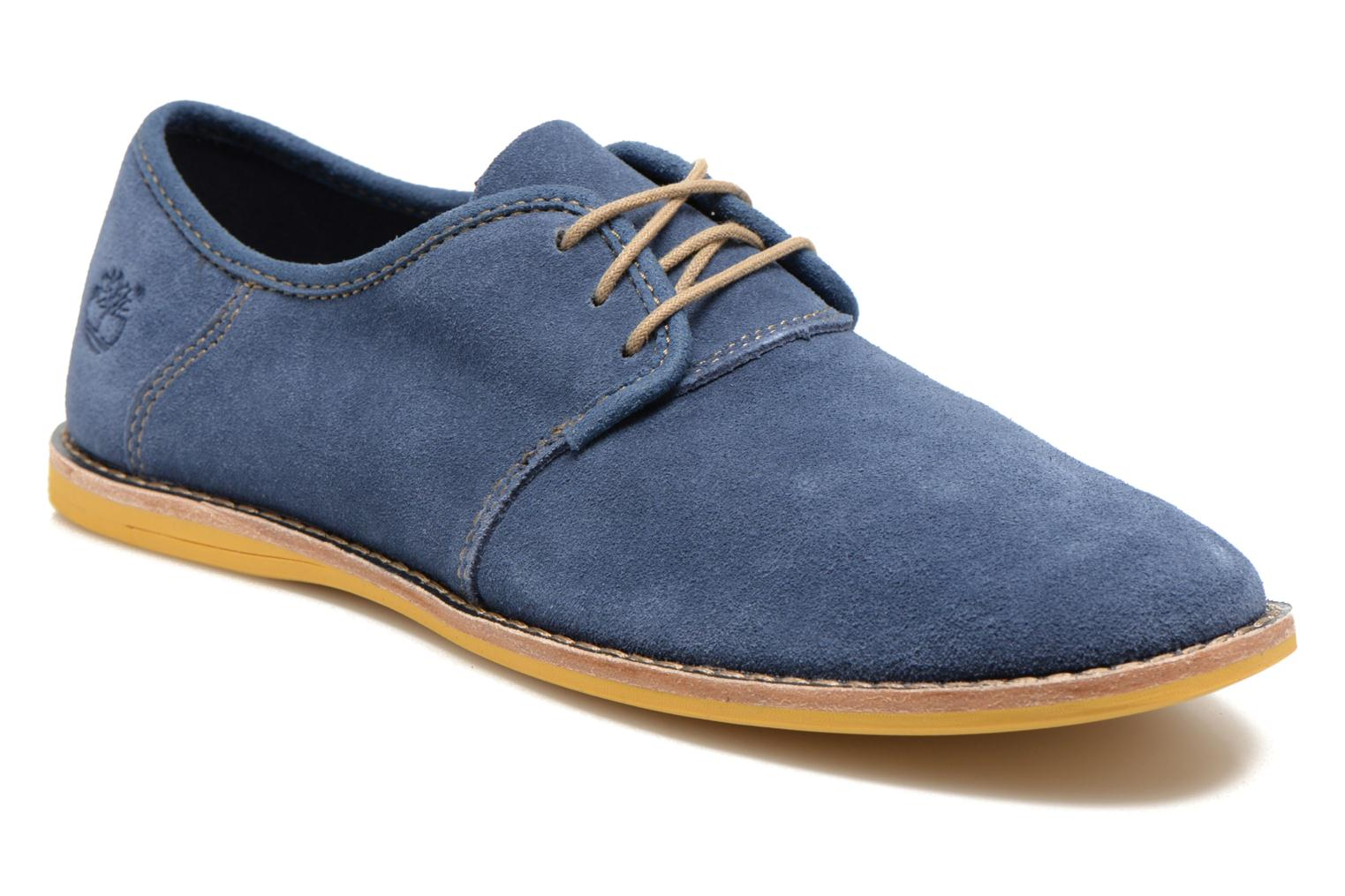 Chaussures à lacets Timberland Earthkeepers Revenia Suede Oxford Bleu vue détail/paire