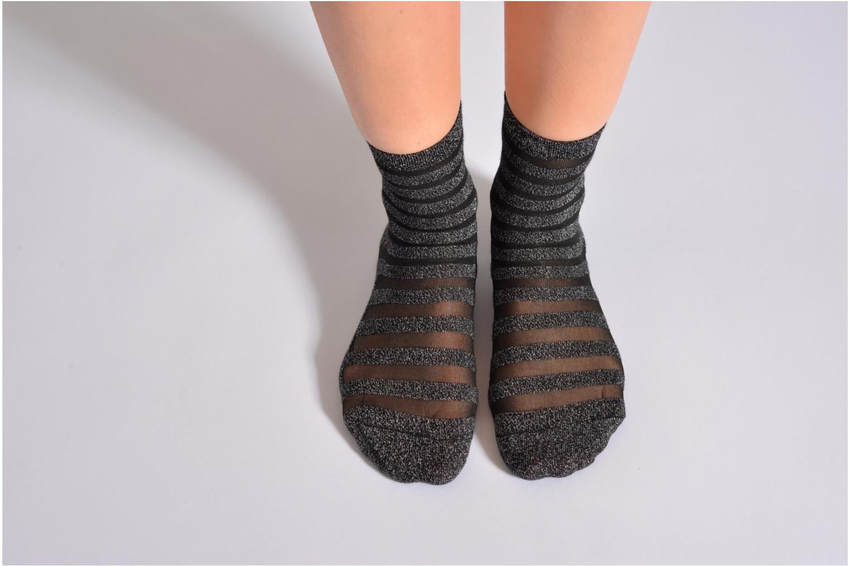 Chaussettes et collants My Lovely Socks Chaussettes Mixte Faustine Argent vue haut