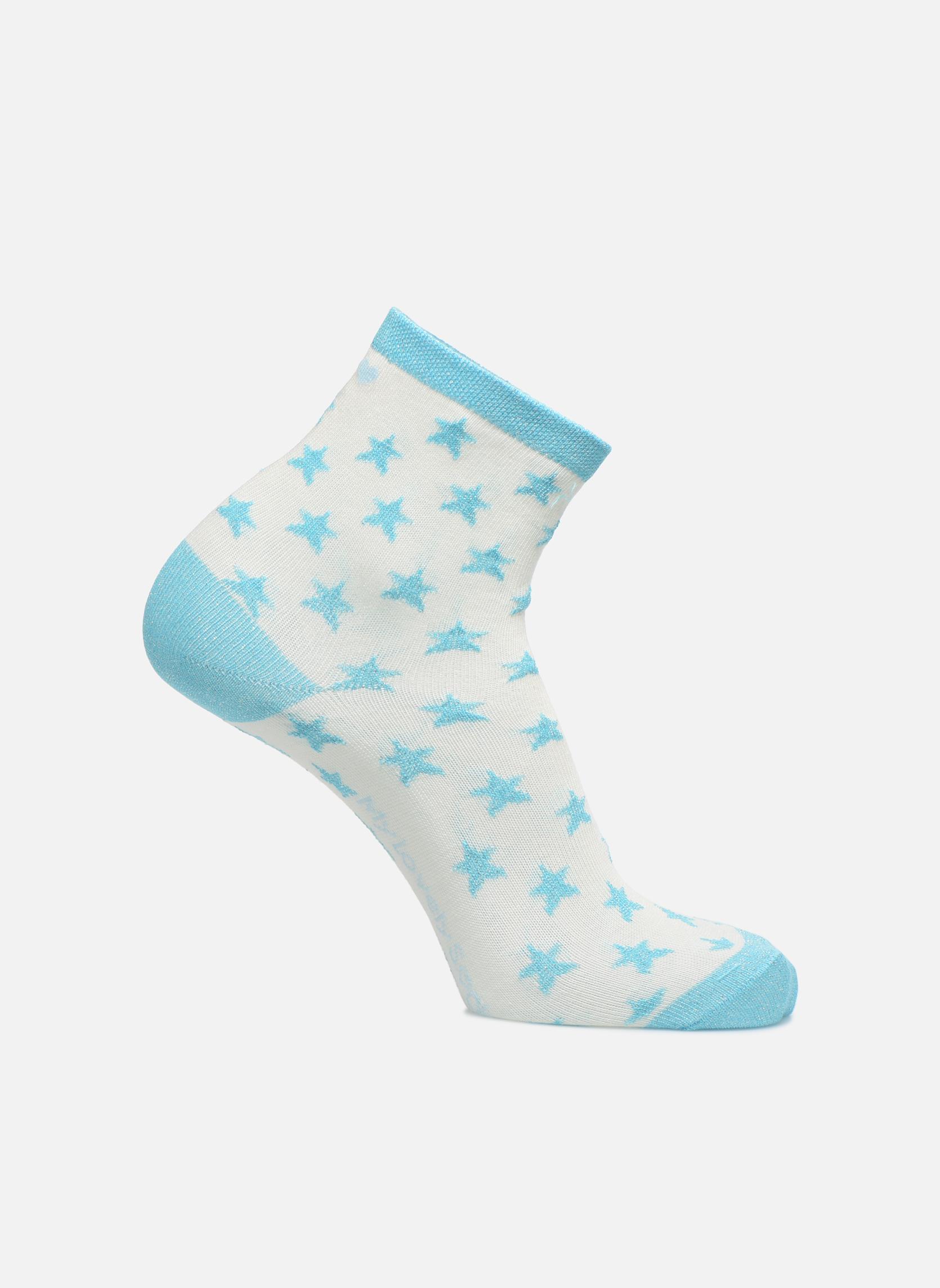 Chaussettes Mixte Celeste Stars blanc et turquoise argenté