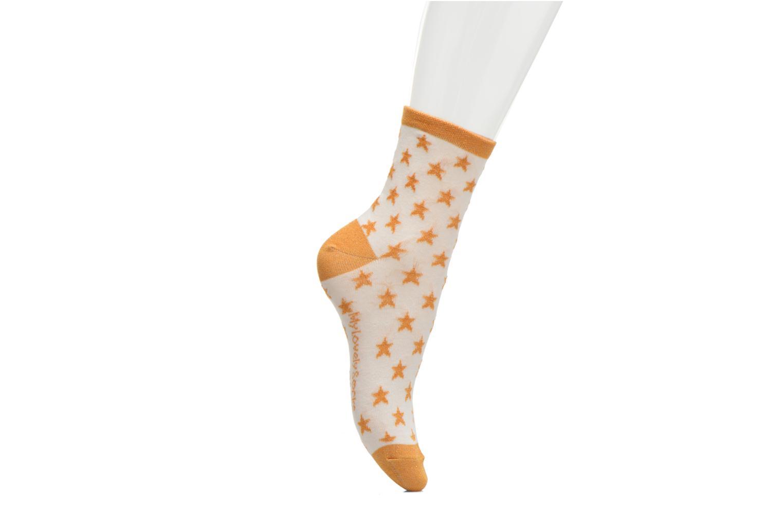 Chaussettes et collants My Lovely Socks Chaussettes Mixte Celeste Jaune vue face