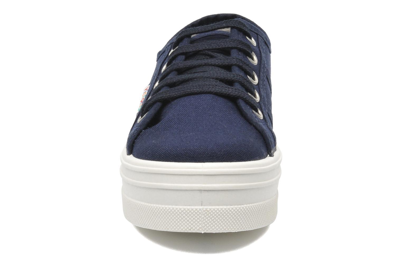 Baskets Victoria Blucher Lona Plataforma Kids Bleu vue portées chaussures