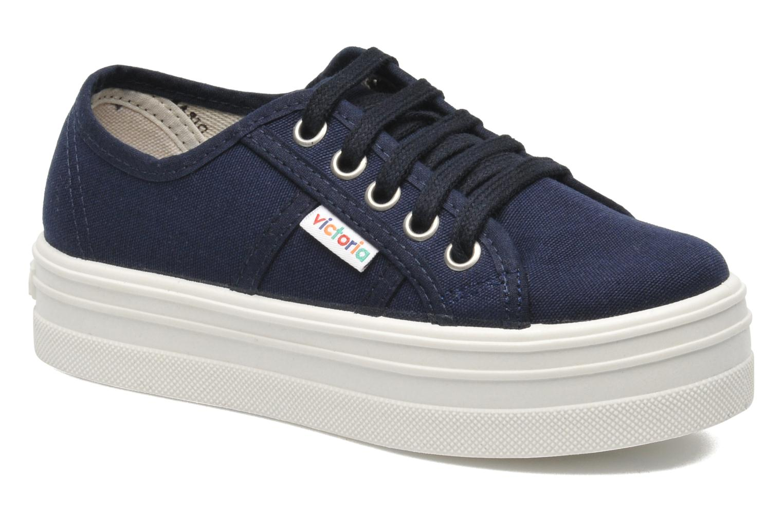 Sneakers Victoria Blucher Lona Plataforma Kids Blauw detail