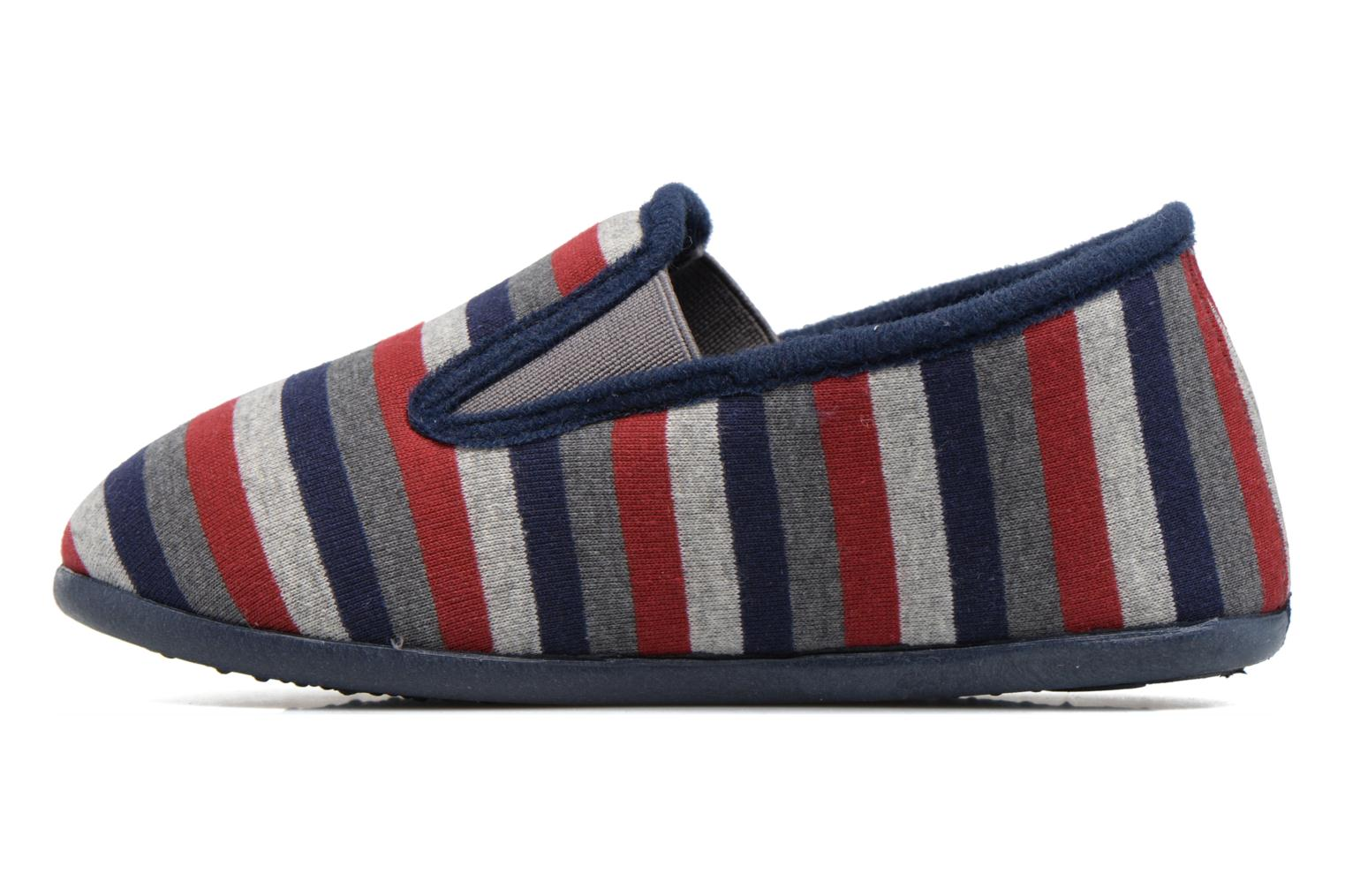 Slippers Rondinaud JAVA Blue front view