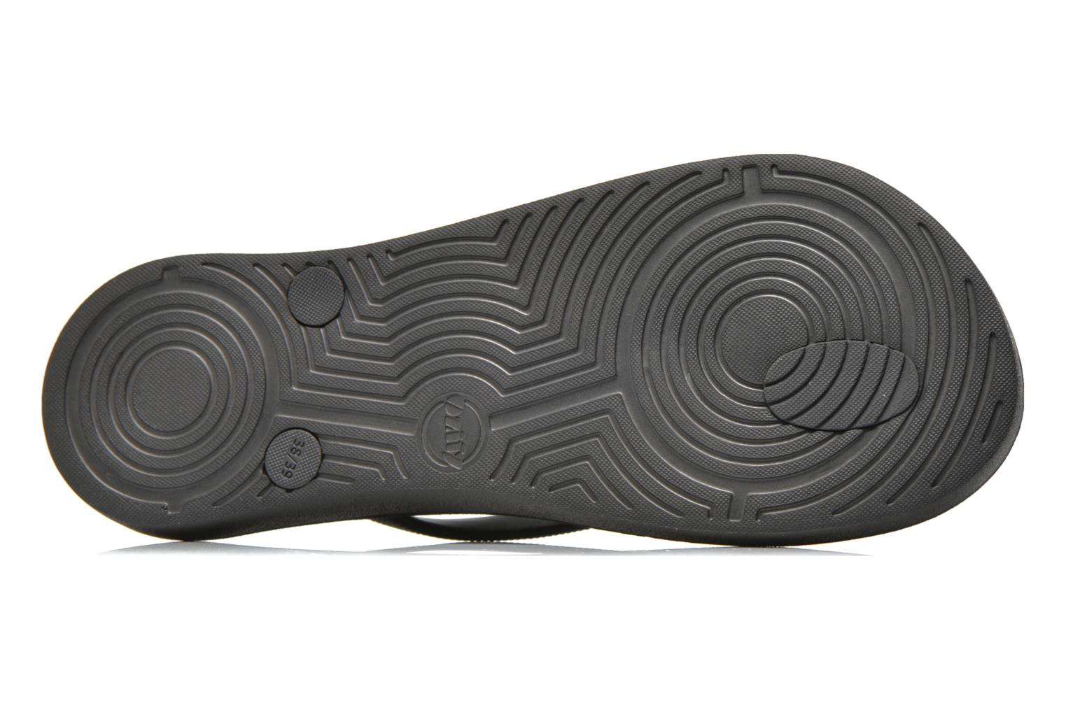 Flip flops Ozify Classic W Black view from above