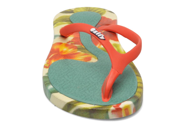 Zehensandalen Ozify Prints W mehrfarbig schuhe getragen