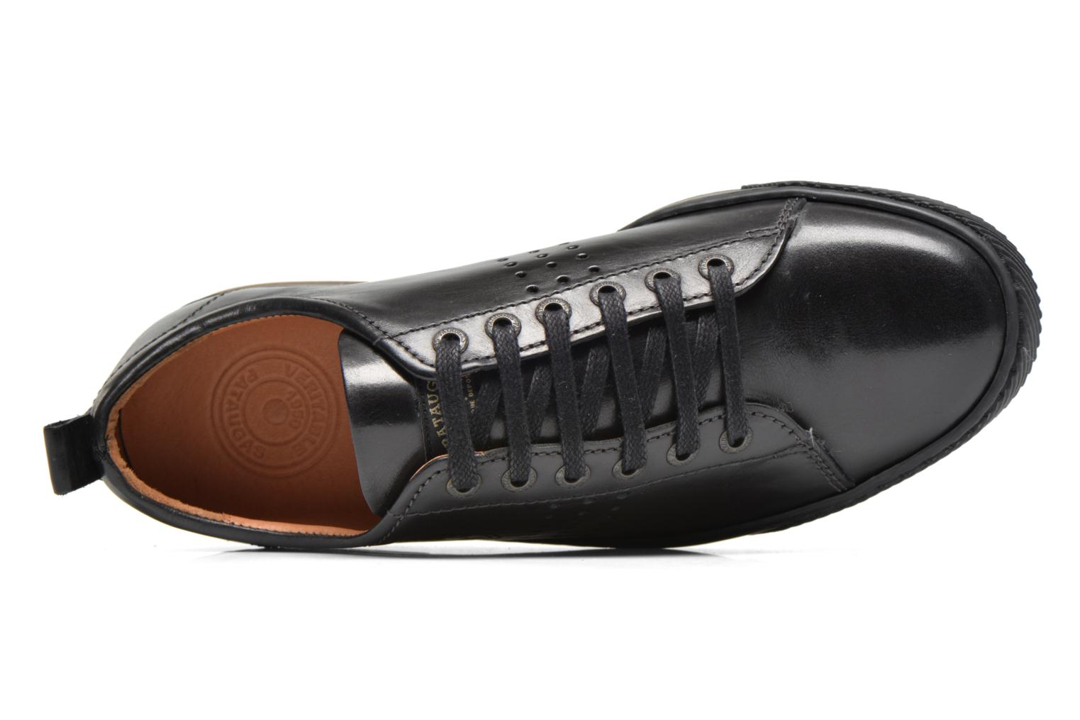 Trainers Pataugas Mattei Black view from the left