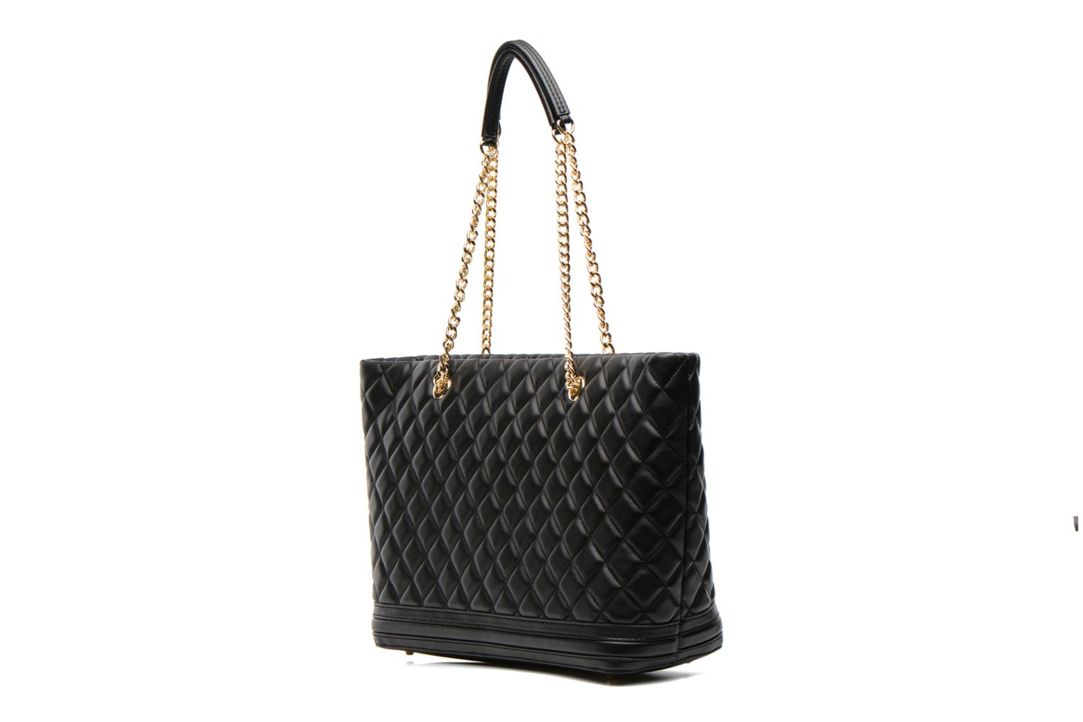 Sacs à main Love Moschino Quilted Cabas Noir vue droite