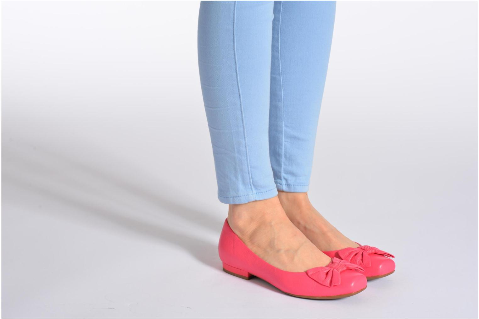 Ballet pumps Geox D Zilda A Pink view from underneath / model view