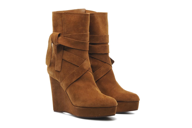 Bottines et boots Michael Michael Kors Malika Marron vue 3/4
