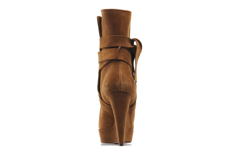 Bottines et boots Michael Michael Kors Malika Marron vue droite