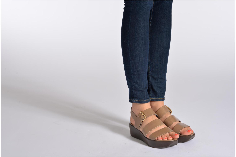 Sandales et nu-pieds Elizabeth Stuart Vidocq Noir vue bas / vue portée sac