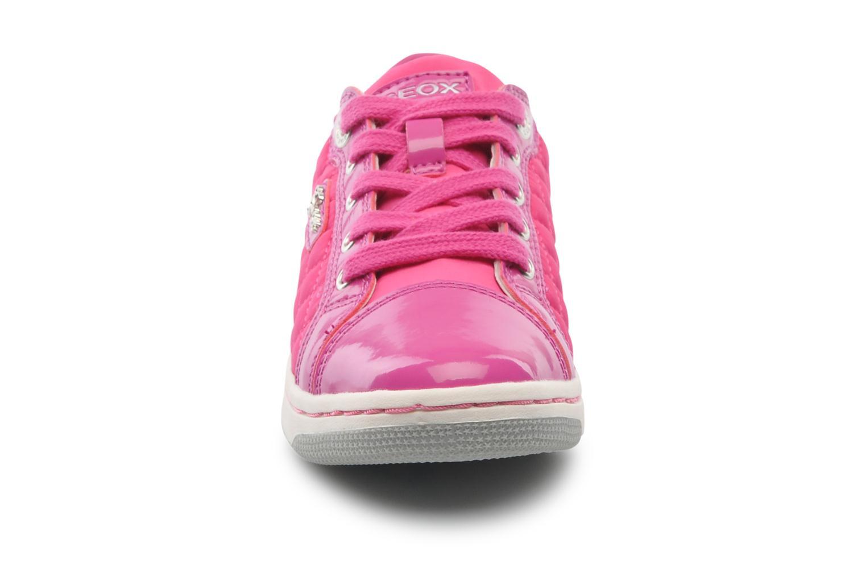Baskets Geox J CREAMY A low Rose vue portées chaussures