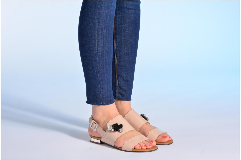 Sandales et nu-pieds Made by SARENZA Chamallow #2 Beige vue bas / vue portée sac