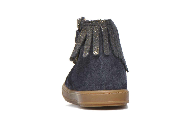 Bottines et boots Shoo Pom Bouba Fringe Bleu vue droite