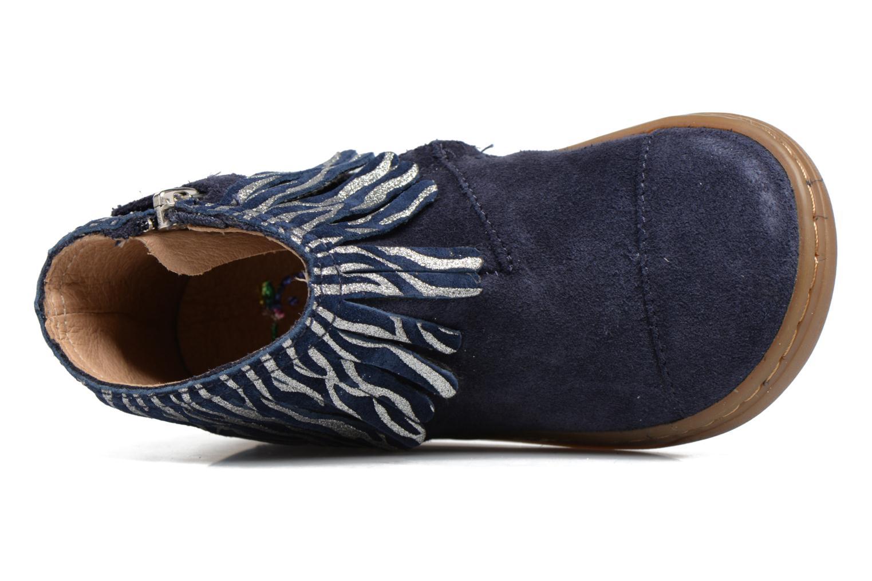 Bottines et boots Shoo Pom Bouba Fringe Bleu vue gauche