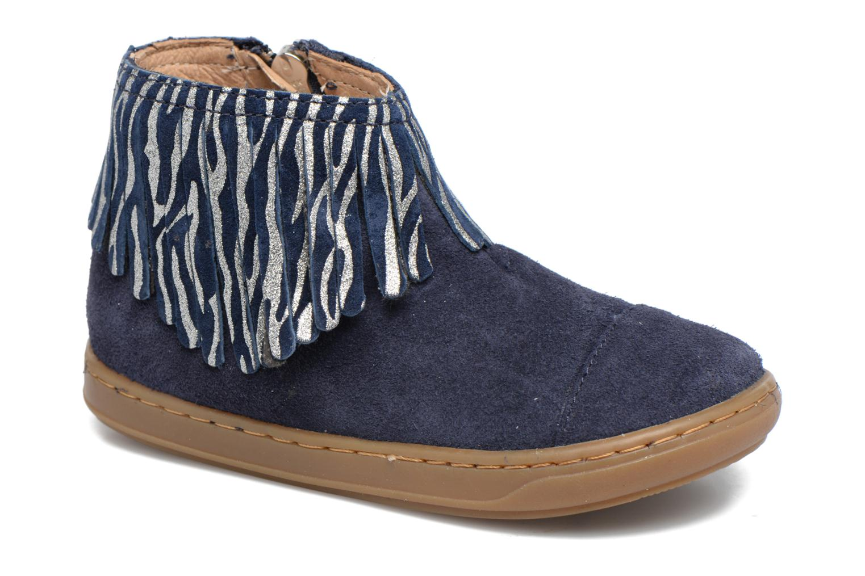 Bottines et boots Shoo Pom Bouba Fringe Bleu vue détail/paire