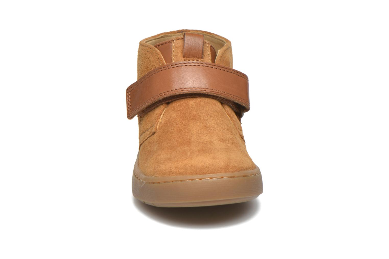 Chaussures à scratch Shoo Pom Play Desert Vel Marron vue portées chaussures
