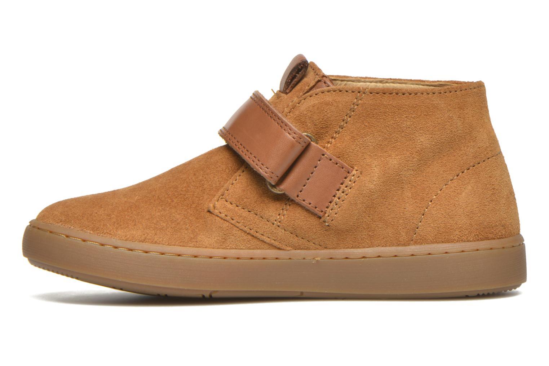 Chaussures à scratch Shoo Pom Play Desert Vel Marron vue face