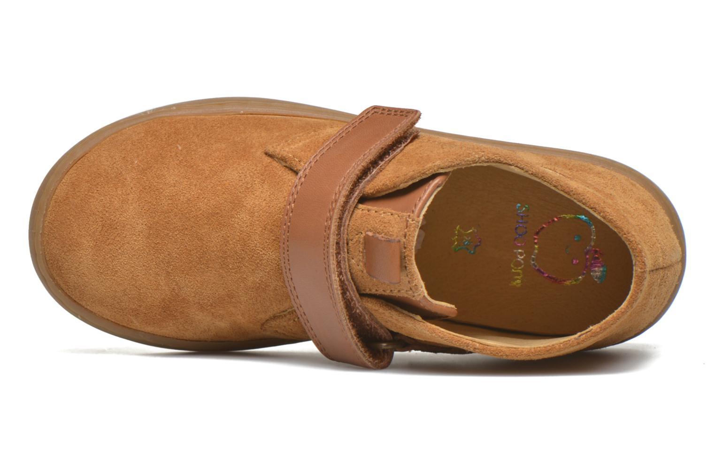 Schoenen met klitteband Shoo Pom Play Desert Vel Bruin links