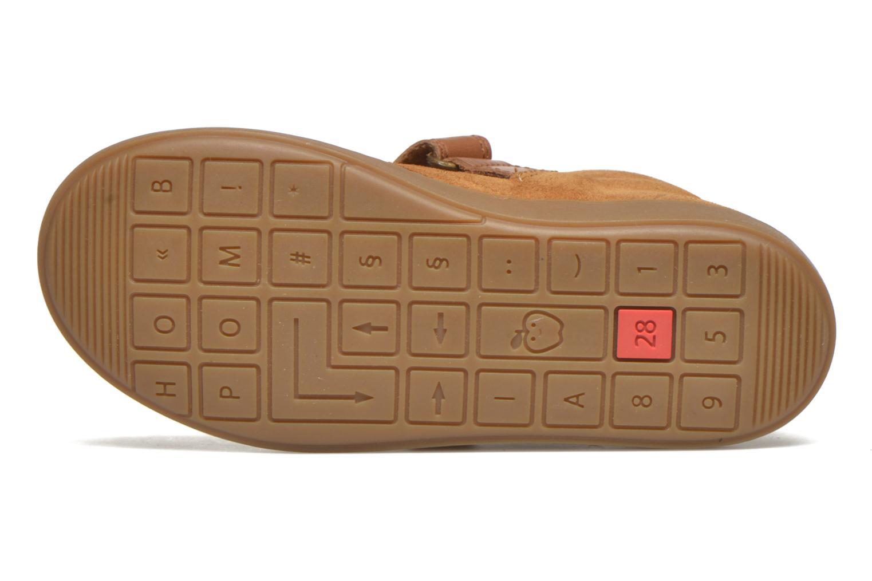 Chaussures à scratch Shoo Pom Play Desert Vel Marron vue haut