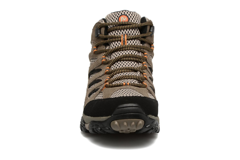 Chaussures de sport Merrell Moab Mid Gtx Marron vue portées chaussures