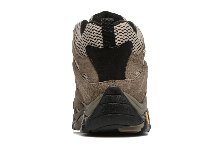 Chaussures de sport Merrell Moab Mid Gtx Marron vue droite