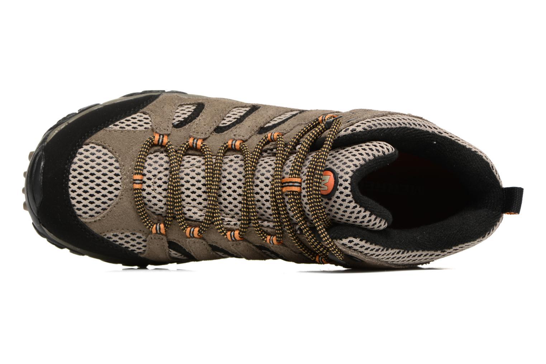 Chaussures de sport Merrell Moab Mid Gtx Marron vue gauche