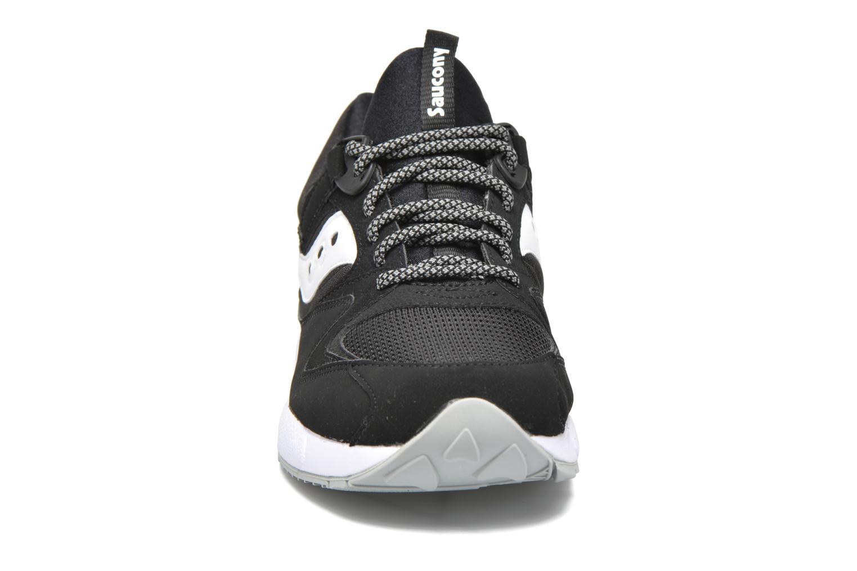 Sneaker Saucony Grid 9000 schwarz schuhe getragen