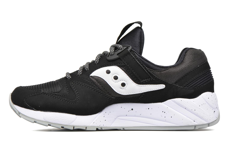 Sneaker Saucony Grid 9000 schwarz ansicht von vorne