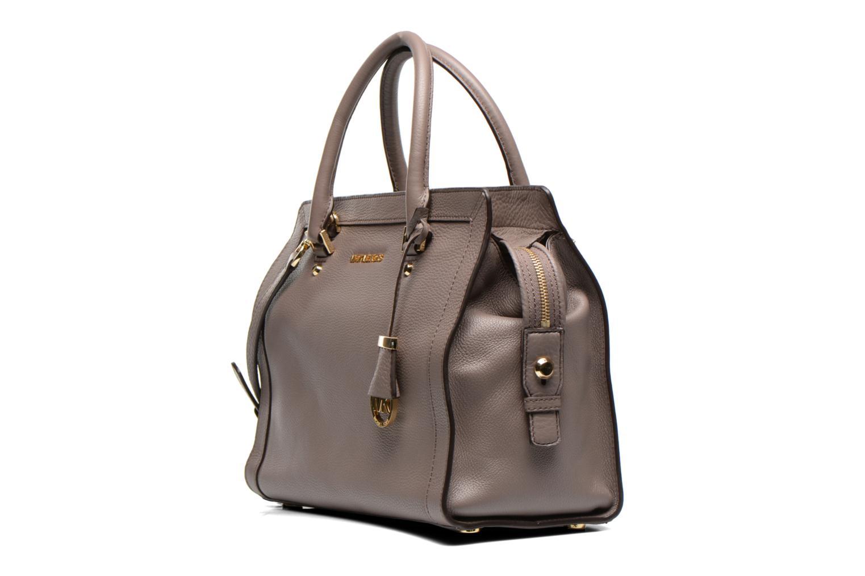 Handtaschen Michael Michael Kors COLLINS LG Satchel grau schuhe getragen