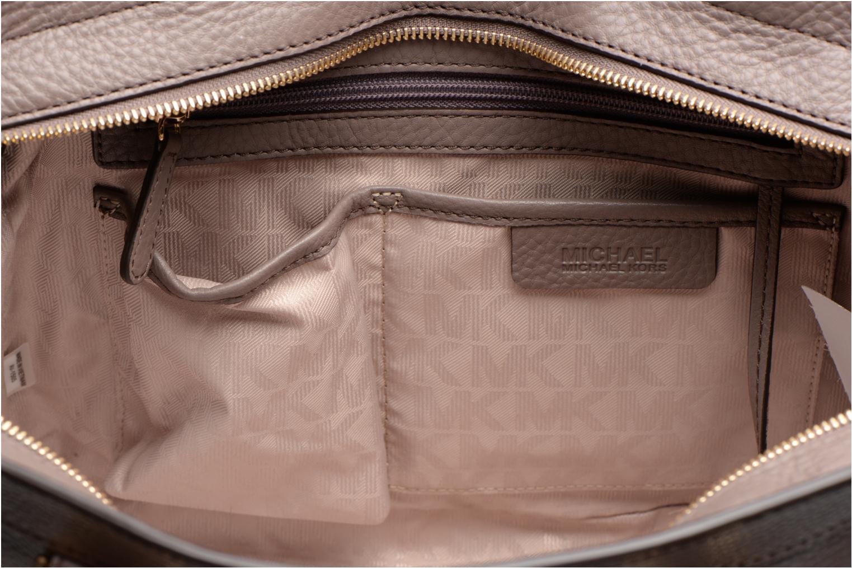 Handtassen Michael Michael Kors COLLINS LG Satchel Grijs achterkant