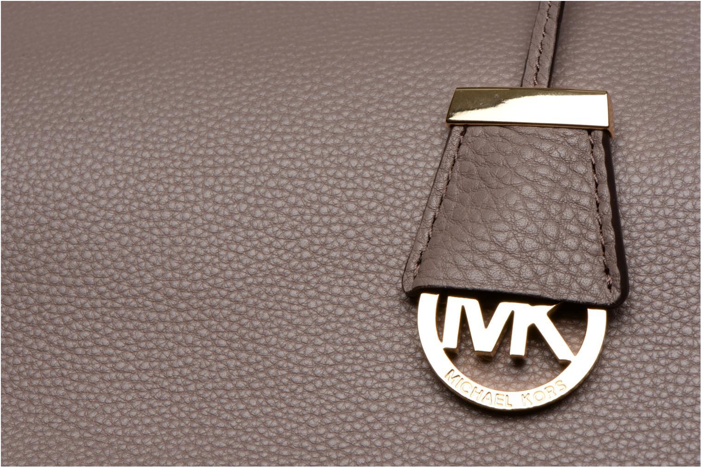 Handtaschen Michael Michael Kors COLLINS LG Satchel grau ansicht von links