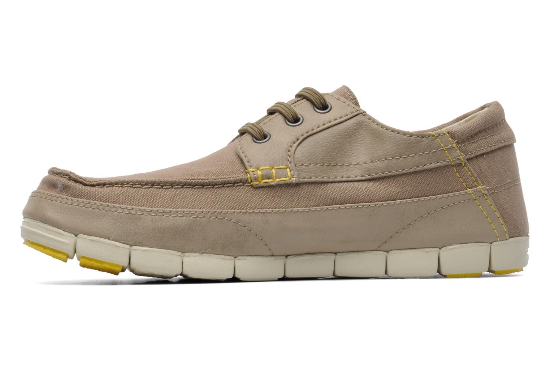 Chaussures à lacets Crocs Stretch Sole Lace-Up M Gris vue face