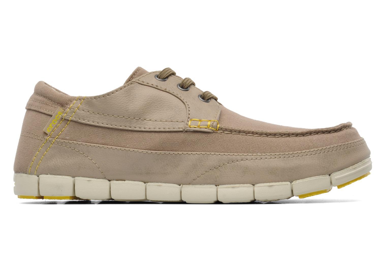 Chaussures à lacets Crocs Stretch Sole Lace-Up M Gris vue derrière