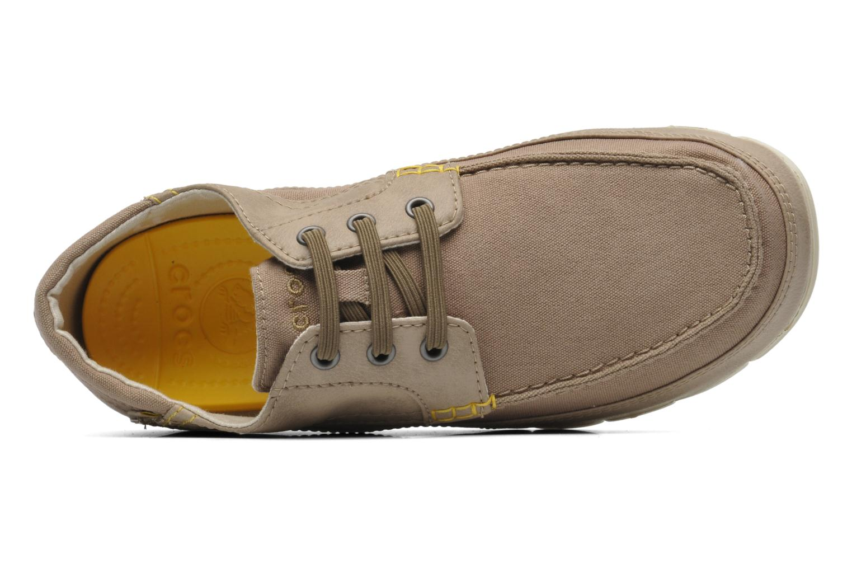 Chaussures à lacets Crocs Stretch Sole Lace-Up M Gris vue gauche