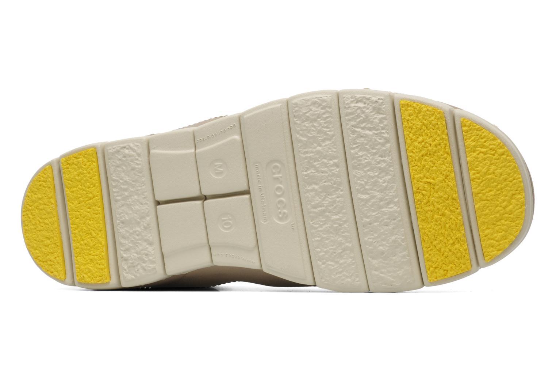 Schnürschuhe Crocs Stretch Sole Lace-Up M grau ansicht von oben