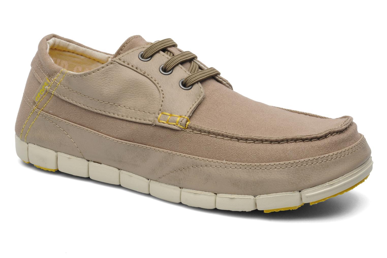 Chaussures à lacets Crocs Stretch Sole Lace-Up M Gris vue détail/paire